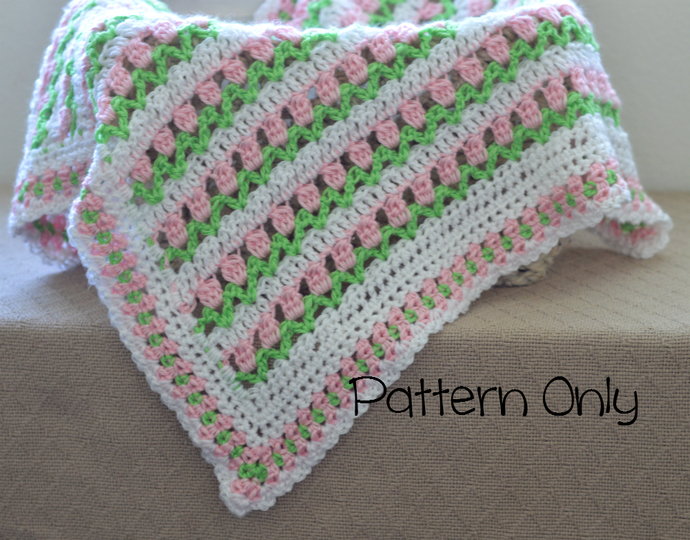 Baby Blanket Crochet Pattern Baby Afghan By Kathyneilsen On Zibbet
