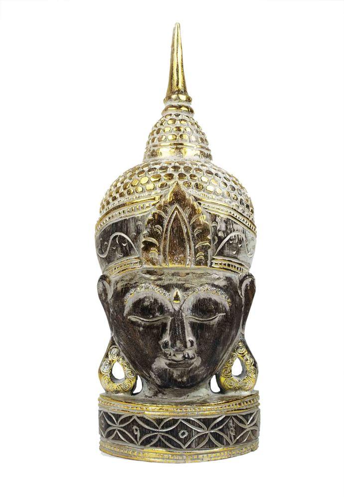 Balinese large hand carved wooden Buddha figurines, Buddha masks, Bali Zen