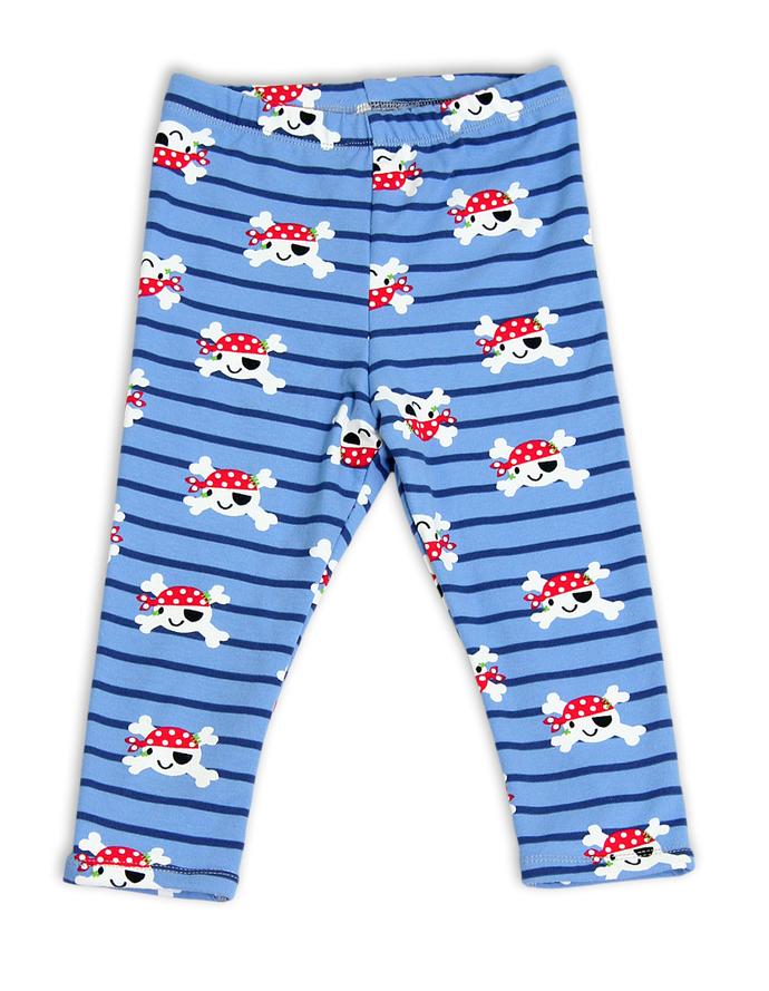 Happy Pirate Leggings double-faced, baby leggings, toddler leggins, kids