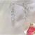 Triple Pastel Heart Sterling Silver Earrings