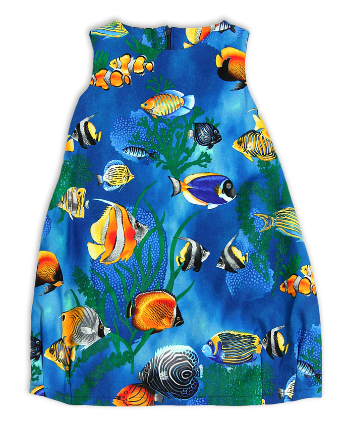 Under The Sea dress, balloon dress, festive dress, fish dress