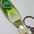 Carlsberg Beer Bottle Shaped PVC Liquid Filled Keychain Key Ring