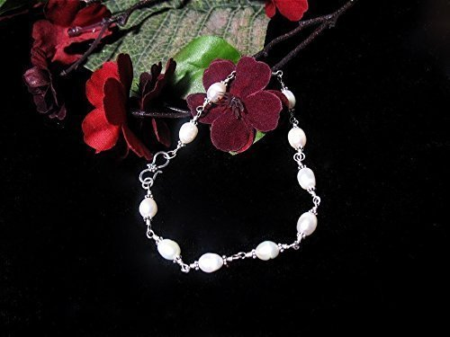 Beautiful Pearls and Sterling Silver Ankle Bracelet