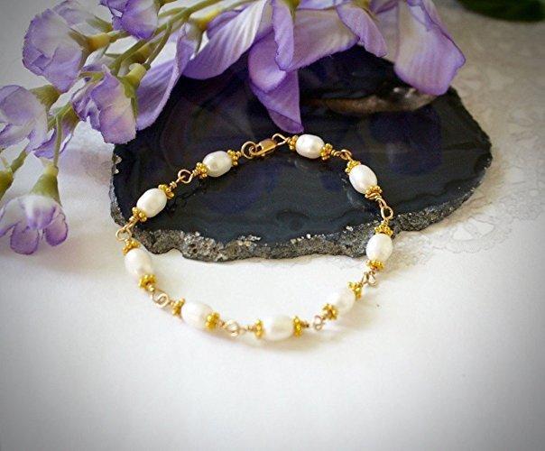 14K Gold Filled Freshwater Pearl Bracelet