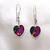 Sparkling Austrian Crystal Vitrail Heart Earrings