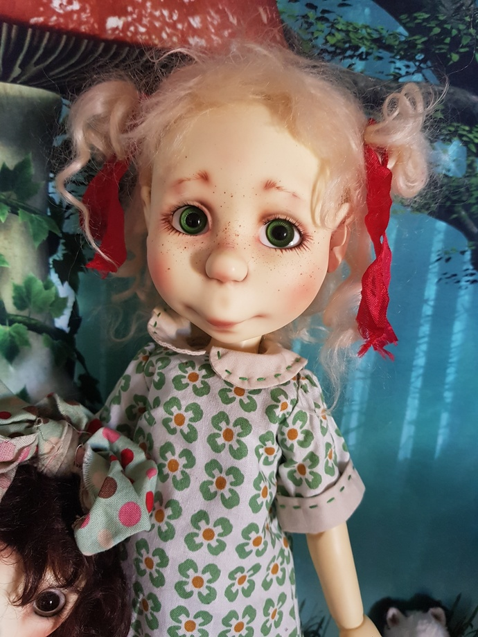 ***RESERVED FOR CORKY*** BJD Marta (in green dress) by Connie Lowe with faceup