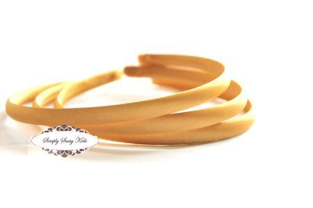 1pc Mustard Gold Satin Covered Headbands - Add Hair Flowers, Embellishments,