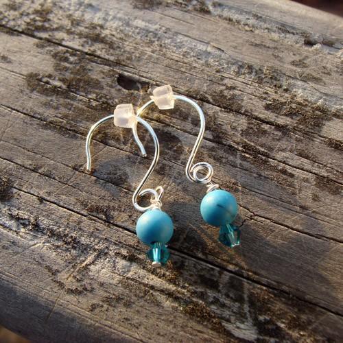 Bahama Blue Earrings E088