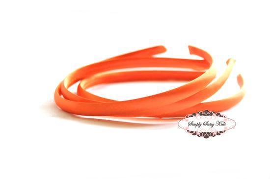 1pc Orange Satin Covered Headbands - Add Hair Flowers, Embellishments, Bows,