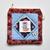 Teacups patchwork square zip pouch