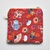 Floral patchwork square zip pouch