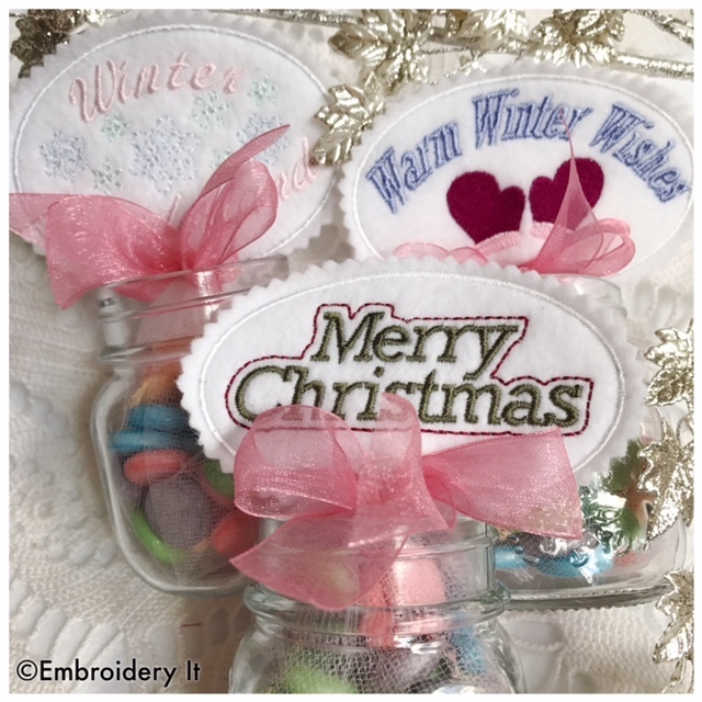 Christmas Candy Topper Set Machine Embroidery Designs - Instant Download Designs