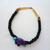 Black & Purple Rope Necklace