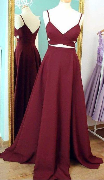 Prom Dress,Spaghetti Straps Prom Dress,Chiffon Prom Dress,A-Line Prom Dress