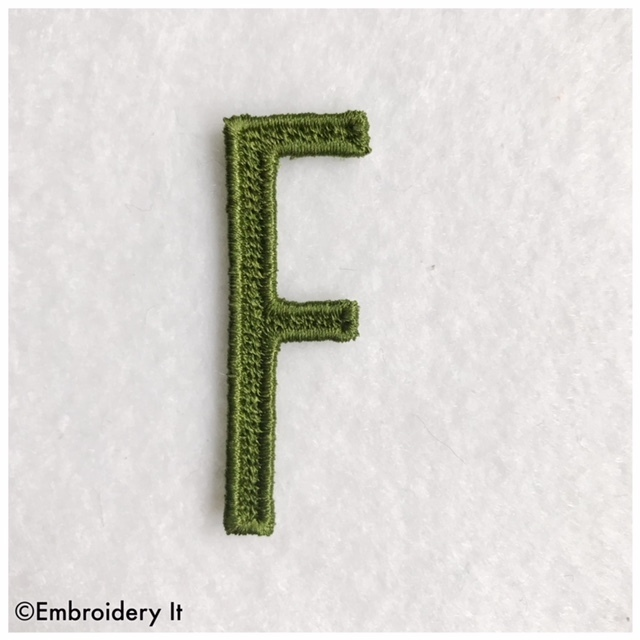 Embroidery Words Alphabet Letter F - Machine Embroidery Design in Pes, Dst, Exp,