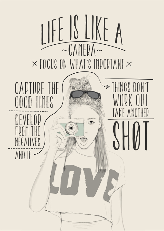 Poster Quotes About Life Amusing Poster Life Is Like A Camera Quote Inspirationalpoposter On Zibbet