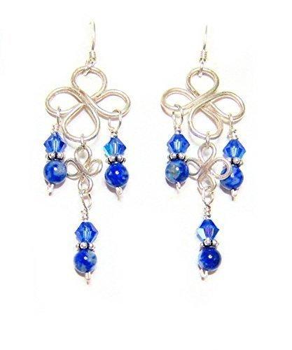 Lapis Blues in Sterling Silver Earrings