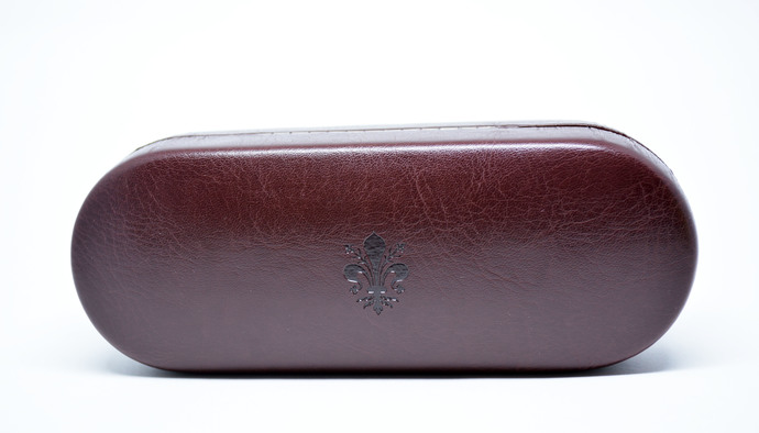 3e929ebdc0e Leather Glasses Case Hard Eyeglasses Case Brown Leather Sunglass Case