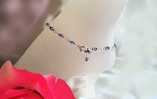 Glittering Tanzanite Crystal Anklet