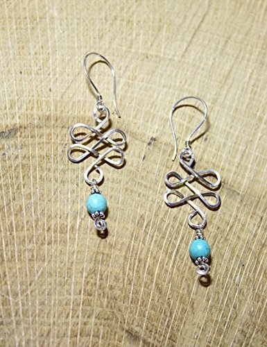 Turquoise Celtic Knot Earrings