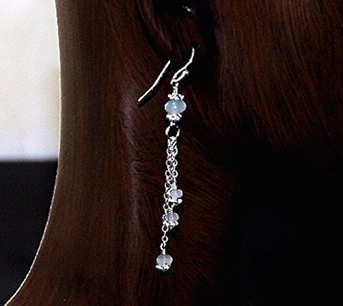 Sparkling Chain Opal Sterling Silver Earrings