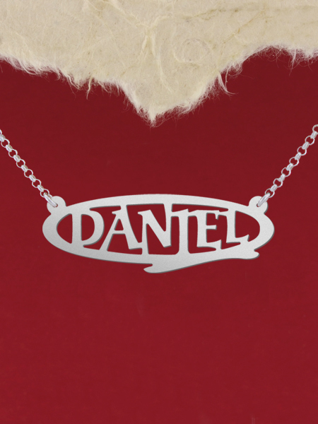 925 Silver Name Necklace Daniel/Custom Name Jewelry/Personalized ANY NAME Plate