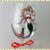 Christmas Mermaid Hand Painted Wine Glass