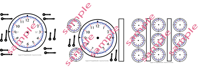 Printable Clock Time-  Please see our Tutorial BEFORE making your purchase