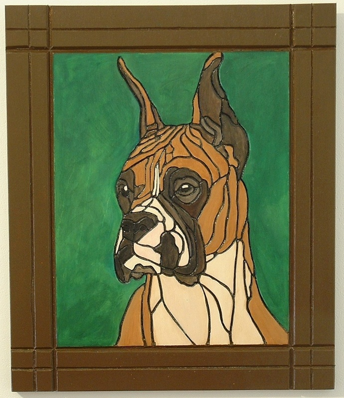 Dog, Boxer, Wood Wall Art, Pyrography, Pet Memorial, Wall Hanging