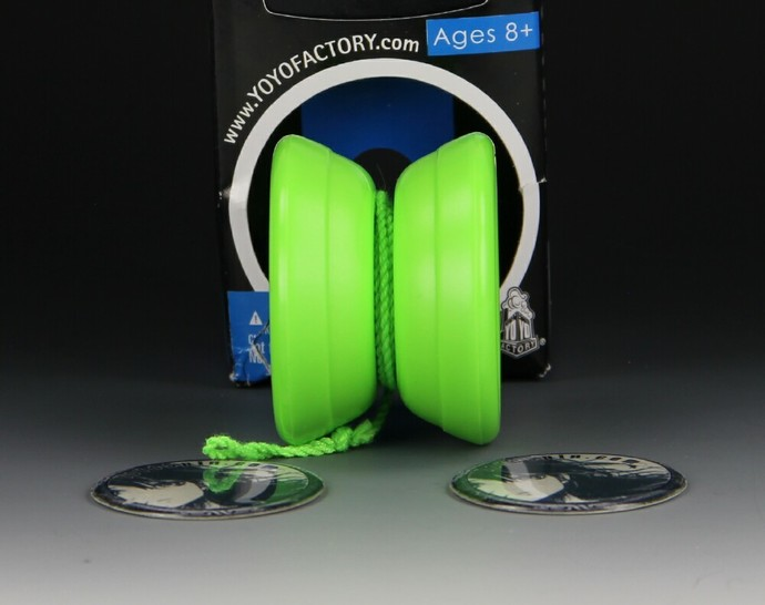 "YoYoFactory ""One"" Bearing Axle Yo-Yo, Glow-In-The-Dark mod by YoYoSpin"