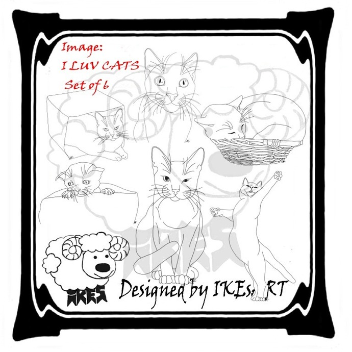I LUV CATS Set of 6