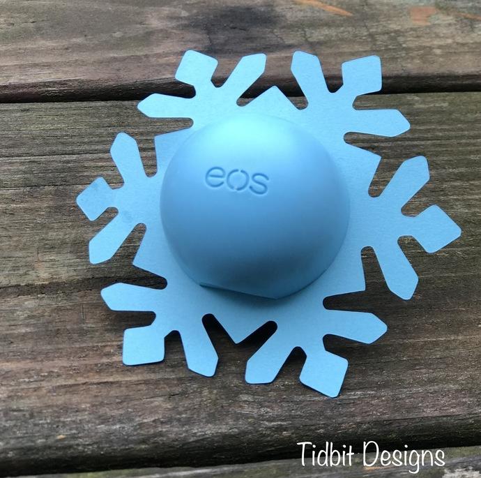 eos snowflake Lip Balm Holder/ Christmas stocking Stuffer / Showers / Gifts /