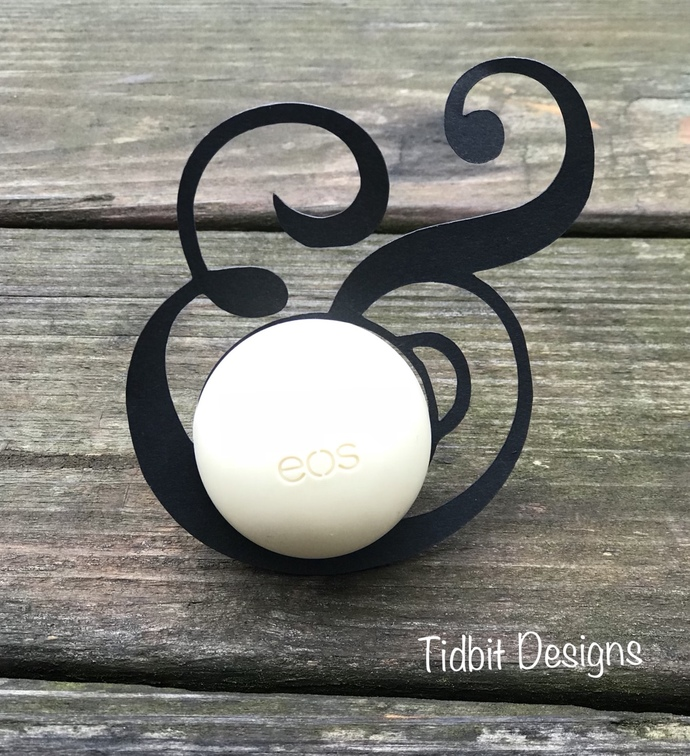 eos & sign Wedding Lip Balm Holder / Showers / Gifts / Favors/ Bride and Groom