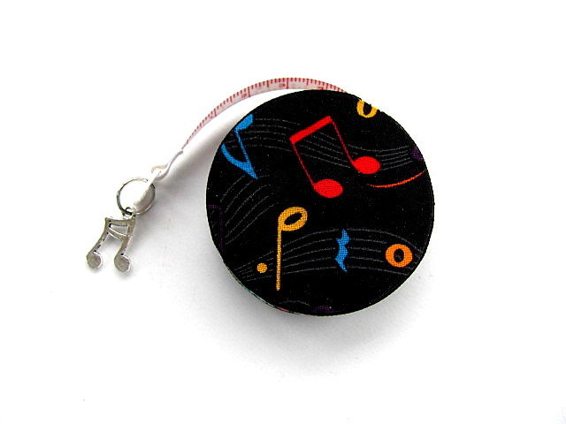 I Love Music Retractable Tape Measure