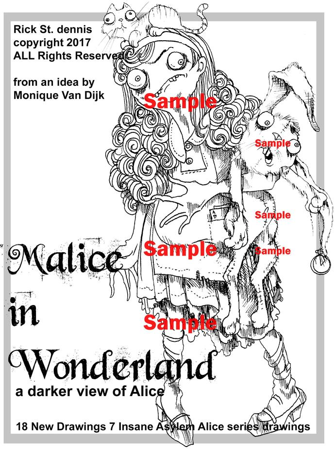 Malice in Wonderland PDF coloring book