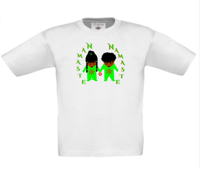 KID'S NAMASTE T-SHIRT TOP - Original design, kids t-shirt top - PEACE - HOPE -