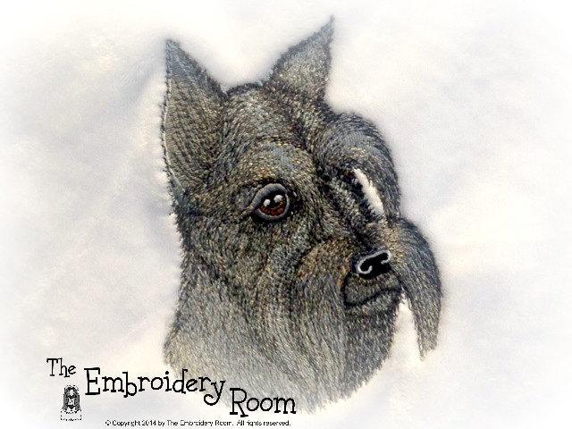 Schnauzer Embroidered Pet Blanket