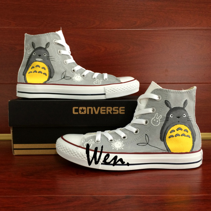 8e7e0b08183a Hand Painted Anime Shoes Men Women Converse All Star Design My Neighbor  Totoro