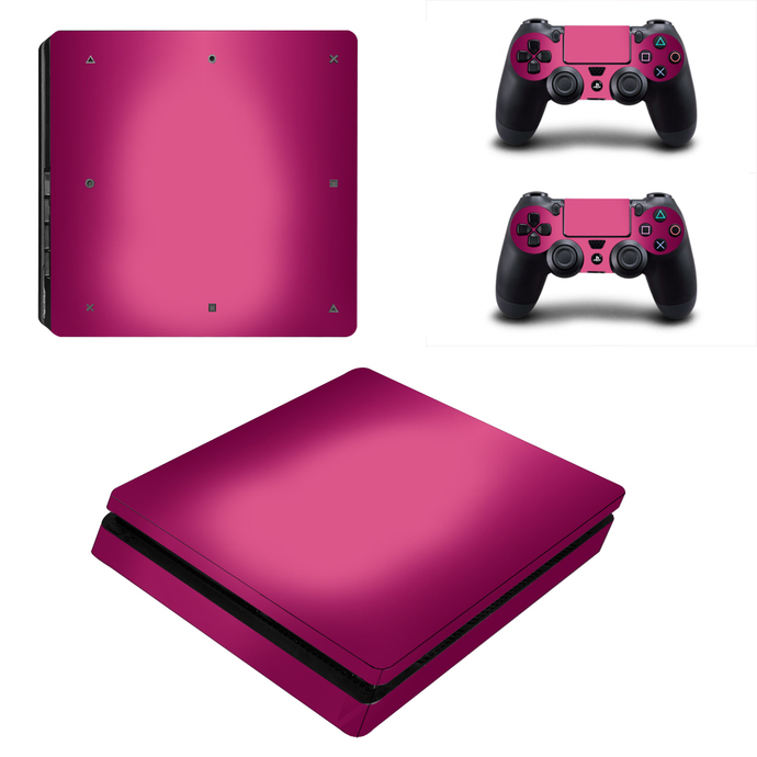 Pink Color  ps4 slim skin decal for console and controllers