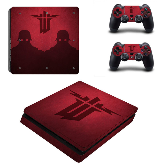 Wolfenstein The New Order ps4 slim skin decal for console and controllers
