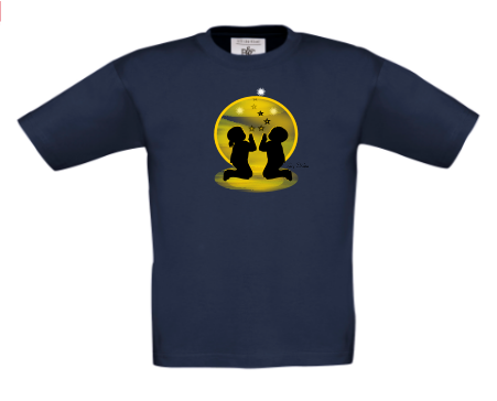 CHILDREN KNEELING IN PRAYER - T-SHIRT TOP These can be PERSONALISED. Designed by