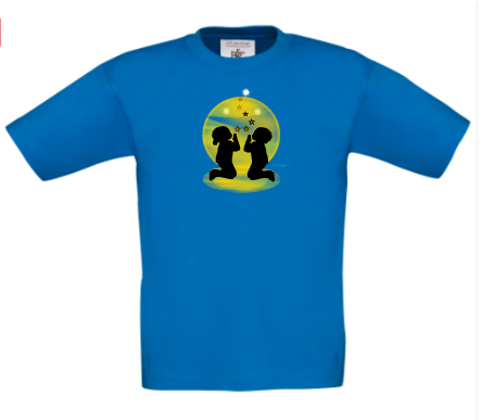 ETHNIC CHILDREN KNEELING IN PRAYER - T-SHIRT TOP These can be PERSONALISED.