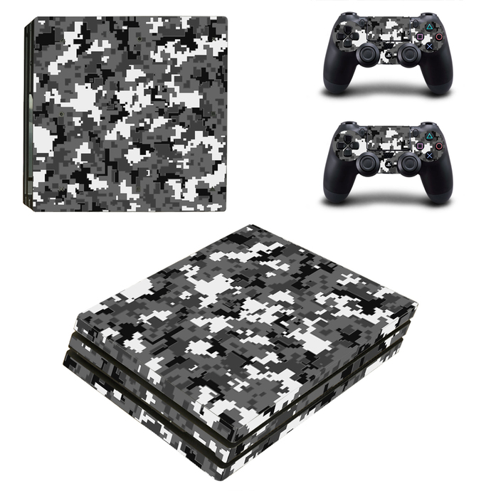 Military Camouflage PS4 PRO edition skin Sticker decal Console and controllers