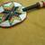 Native American Style Rosette Beaded Morning Star Barrette in Christmas colors