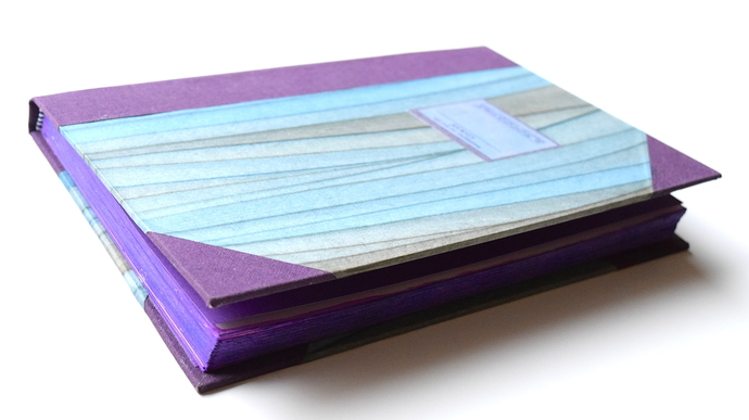 Blank Purple Journal with Purple Edges, Hardcover Writing Journal