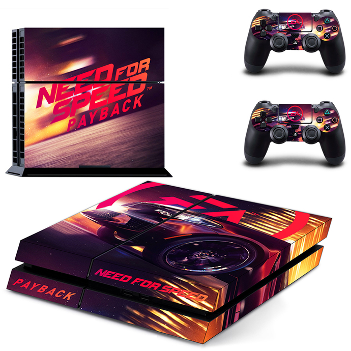 Need For Speed Payback ps4 skin decal for console and 2 controllers
