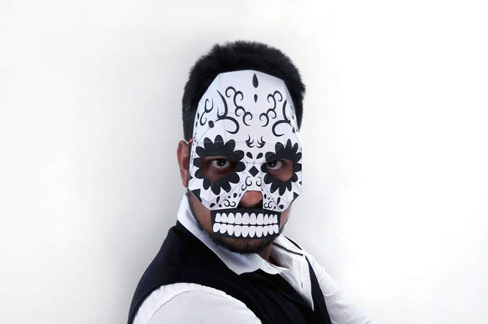 halloweenmask sugar skull mask papercraft diy by paperamaze on zibbet
