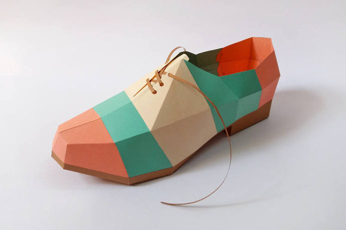 DIY Papercrafts,Paper shoe,pointed shoe,Printable shoe,3d