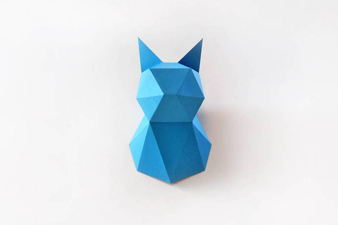 Cat Modelcat Trophycat Low Poly Cat By Paperamaze On Zibbet