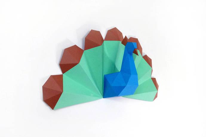 Diy Peacock Trophy3d PapercraftDIY PapercraftsLow PolyPeacockDIY
